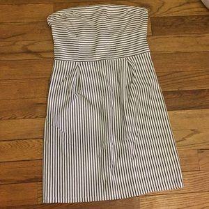 Striped Strapless T-shirt Dress